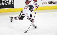Nebraska-Omaha's Alex Simonson. Nebraska-Omaha defeated St. Cloud State 4-3 Saturday night at CenturyLink Center in Omaha. (Photo by Michelle Bishop) .