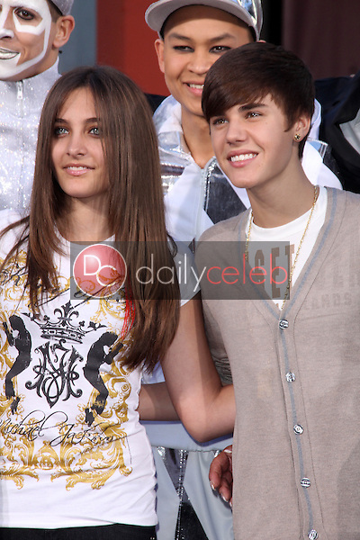 Paris Jackson, Justin Bieber<br />