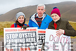 Carol Wynne, Paul and Louise Farrell at the protest to Oyster farming at Rossbeigh beach on Sunday