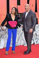"Naomie Harris & Dwayne Johnson arriving for the ""Rampage"" premiere at the Cineworld Empire Leicester Square, London, UK. <br /> 11 April  2018<br /> Picture: Steve Vas/Featureflash/SilverHub 0208 004 5359 sales@silverhubmedia.com"