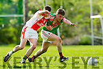 Gearoid O Nuanain West Kerry in action against Gavin O'Connor Kilcummin in the  Kerry County Football Championship on Saturday.