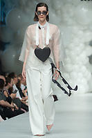 Model presents a creation of brand Cukovy by Hungarian fashion designer Nini Molnar during a fashion show at the Marie Claire Fashion Days in Budapest, Hungary on Nov. 4, 2018. ATTILA VOLGYI