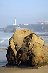 Beach and Lighthouse, Biarritz, Aquitaine, Pyrenees Atlantiques, France