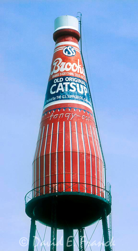 World's Largest Catsup Bottle is a unique 170 ft. tall water tower built in 1949 by the W.E. Caldwell Company located in Collinsville, Illinois.