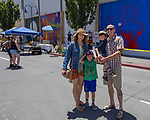 The Bertoli family during the Mural Marathon on Saturday June 30, 2018 in downtown Reno.