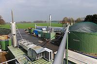 GERMANY , biogas plant for power generation and heating of white tiger shrimps aquaculture in former pig stable / DEUTSCHLAND, Biogasanlage von Landwirt Heinrich Schaefer in Affinghausen, mit der Waerme wird eine Garnelenzucht in der ehemaligen Traktorenhalle betrieben, die White Tiger Garnelen werden unter dem Namen Marella Shrimps  direkt ab Hof per Versand vermarket