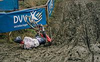 JUNQUERA Luis (ESP) checking out the belgian mud<br /> <br /> GP Sven Nys (BEL) 2019<br /> DVV Trofee<br /> &copy;kramon