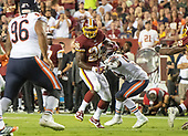 Washington Redskins running back Adrian Peterson (26) carries the ball in the second quarter against the Chicago Bears at FedEx Field in Landover, Maryland on Monday, September 23, 2019.<br /> Credit: Ron Sachs / CNP
