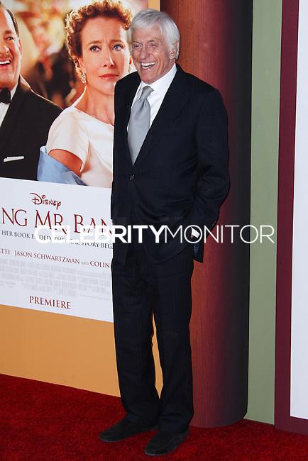 "BURBANK, CA - DECEMBER 09: Dick Van Dyke arriving at the U.S. Premiere Of Disney's ""Saving Mr. Banks"" held at Walt Disney Studios on December 9, 2013 in Burbank, California. (Photo by Xavier Collin/Celebrity Monitor)"