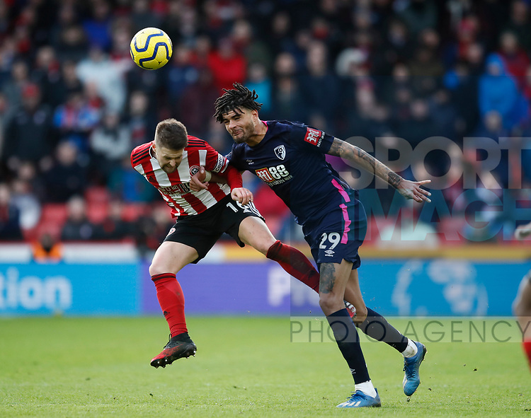 Oliver Norwood of Sheffield Utd challenged by Philip Billing of Bournemouth  during the Premier League match at Bramall Lane, Sheffield. Picture date: 9th February 2020. Picture credit should read: Simon Bellis/Sportimage