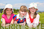 Orla McCarthy, Saoirse Carr and Ciara O'Neill relaxing at the Cromane GAA funday on Sunday