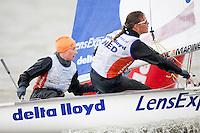 Lisa Westerhof and Lobke Berkhout, NED, 470 women, Day 4, May 27th, Delta Lloyd Regatta in Medemblik, The Netherlands (26/30 May 2011).