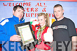 BOXING CHAMPION: Naomi O'Brien of the Cashen Vale boxing club National Irish Champion in Ballybunion on Monday l-r: Patrick O'Brien (coach), Naomi O'Brien and proud dad Mike O'Brien.