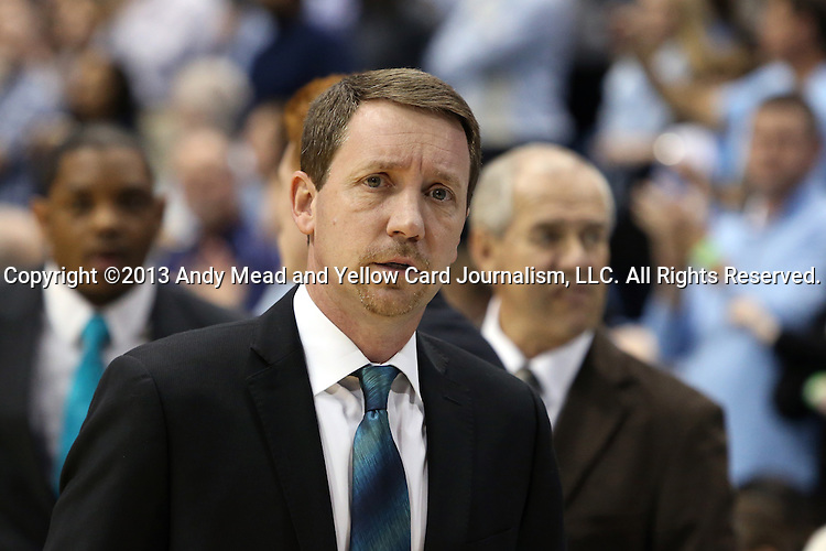 31 December 2013: UNCW assistant coach Houston Fancher. The University of North Carolina Tar Heels played the UNC Wilmington Seahawks at the Dean E. Smith Center in Chapel Hill, North Carolina in a 2013-14 NCAA Division I Men's Basketball game. UNC won the game 84-51.