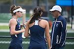 April 25, 2014; San Diego, CA, USA; Pepperdine Waves women's tennis head coach Gualberto Escudero during the WCC Tennis Championships at Barnes Tennis Center.