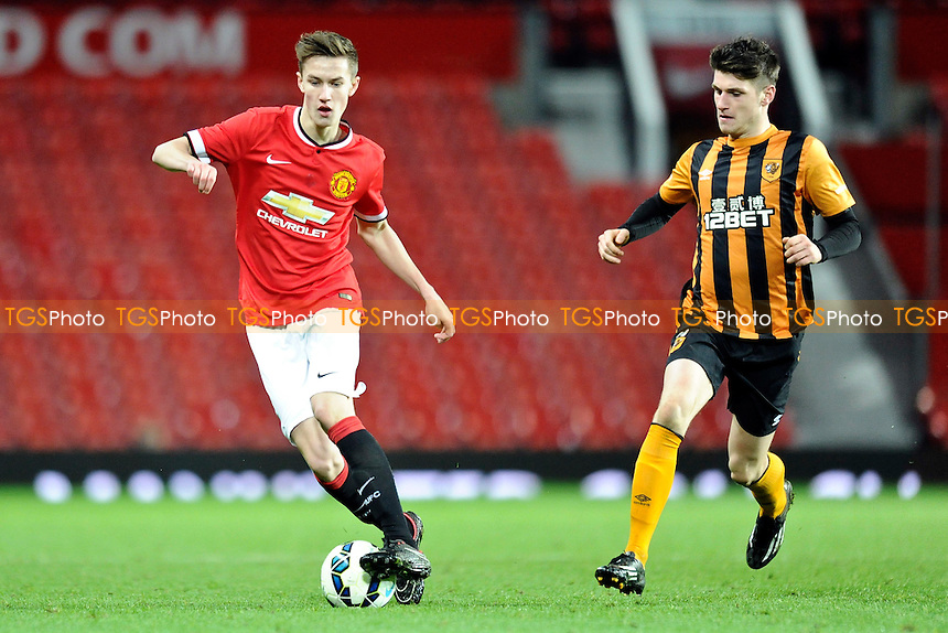 Callum Gribbin of Manchester United controls the ball - Manchester United Youth vs Hull City Youth - FA Youth Cup 4th Round Football at Old Trafford, Greater Manchester - 13/01/15 - MANDATORY CREDIT: Greig Bertram/TGSPHOTO - Self billing applies where appropriate - contact@tgsphoto.co.uk - NO UNPAID USE