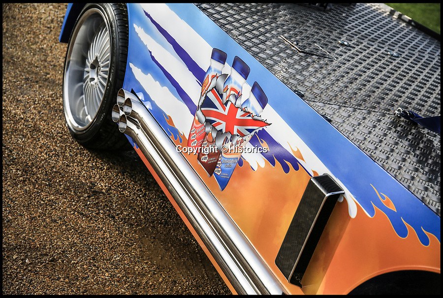 BNPS.co.uk (01202 558833)<br /> Pic:  Historics/BNPS<br /> <br /> Full Cream Ahead...<br /> <br /> Benny Hill may have claimed that Ernie drove the fastest milk cart in the west, but the real-life record holder has now emerged for sale at auction.<br /> <br /> In his 1971 hit 'Ernie (The Fastest Milkman in the West)' Hill claimed the humble delivery man had the quickest float around, which he used to attract the attention of Sue, a local widow.<br /> <br /> Now however Ernie's horse drawn cart has been blown out of the water by a V8 monster capable of over 80mph.