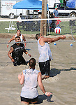 Mud volleyball is a popular event at the 2008 Cantaloupe  Festival.  Photo by Tom Smedes.