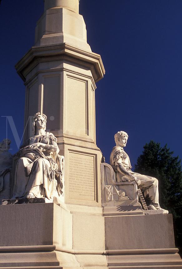 AJ2696, Gettysburg, battle, battlefield, Gettysburg National Military Park, Pennsylvania, Soldiers' National Monument in Gettysburg National Cemetery at Gettysburg National Military Park in Gettysburg in the state of Pennsylvania.