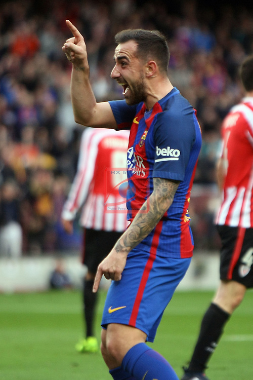 League Santander 2016/2017. Game: 21.<br /> FC Barcelona vs Athletic Club: 3-0.<br /> 1-0: Paco Alcacer.