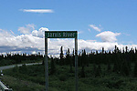 IMAGES OF THE YUKON,CANADA,  Jarvis River sign post.