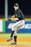 Bristol White Sox relief pitcher James Hudelson #22 in action against the Burlington Royals at Burlington Athletic Park on July 6, 2012 in Burlington, North Carolina.  The Royals defeated the White Sox 5-2.  (Brian Westerholt/Four Seam Images)