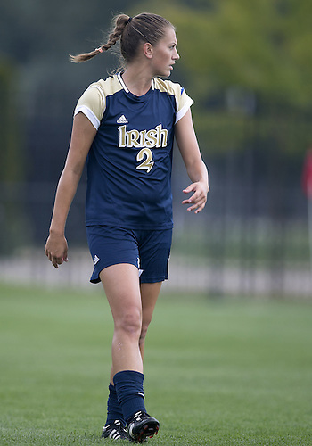 September 01, 2013:  Notre Dame midfielder Mandy Laddish (2) during NCAA Soccer match between the Notre Dame Fighting Irish and the UCLA Bruins at Alumni Stadium in South Bend, Indiana.  UCLA defeated Notre Dame 1-0.