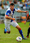 Grant Hanley of Blackburn Rovers in action against Kitchee FC during the Asia Trophy pre-season friendly match at the Hong Kong Stadium on July 30, 2011 in So Kon Po, Hong Kong. Photo by Victor Fraile / The Power of Sport Images