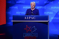 Washington, DC - March 24, 2019:  Prime Minister Virorica Dâncillâ of Romania addresses the AIPAC Policy Conference at the Washington Convention Center in Washington, DC, March 24, 2019.  (Photo by Don Baxter/Media Images International)