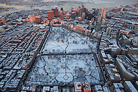 Boston Common, aerial, Boston, MA