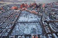 Boston Common, aerial, Boston, MA