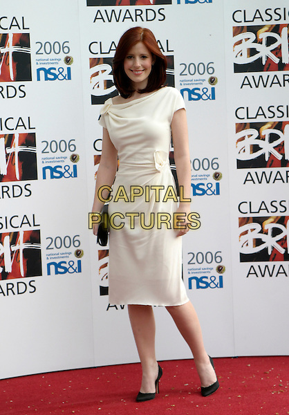 AMY NUTTALL.The Classical Brit Awards 2006 at The Royal Albert Hall, London, UK..May 4th, 2006.Ref: AH.full length white dress .www.capitalpictures.com.sales@capitalpictures.com.© Capital Pictures.