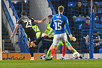 Michael Harriman of Northampton Town scores the first goal during Portsmouth vs Northampton Town, Leasing.com Trophy Football at Fratton Park on 3rd December 2019