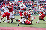 Wisconsin Badgers running back Bradie Ewing (34) scores a touchdown during an NCAA college football game against the Austin Peay Governors on September 25, 2010 at Camp Randall Stadium in Madison, Wisconsin. The Badgers beat the Governors 70-3. (Photo by David Stluka)