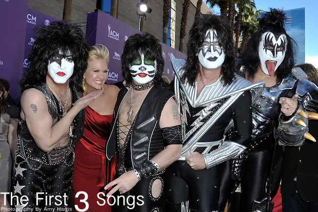 KISS attends the 47th Annual Academy of Country Music Awards in Las Vegas, Nevada on April 1, 2012.