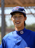 Hak-Ju Lee / Chicago Cubs 2008 Instructional League --- Korean native playing in his first game in the United States, Mesa, AZ - 09/23/2008..Photo by:  Bill Mitchell/Four Seam Images