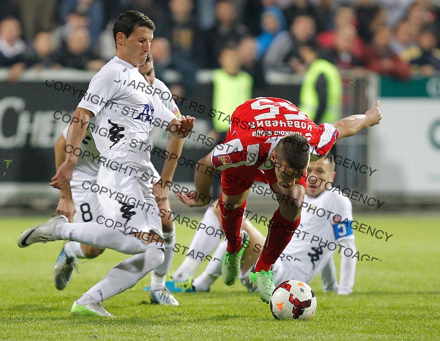 Fudbal Super liga season 2013-2014<br /> Cukaricki v Crvena Zvezda<br /> Aleksandar Kovacevic (R) and Dragoljub Srnic<br /> Beograd, 06.10.2013.<br /> foto: Srdjan Stevanovic/Starsportphoto &copy;