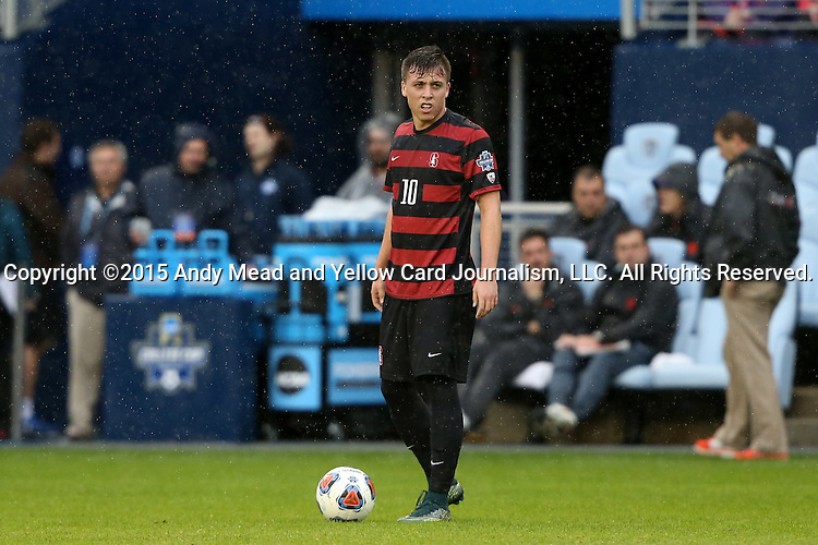 13 December 2015: Stanford's Corey Baird. The Clemson University Tigers played the Stanford University Cardinal at Sporting Park in Kansas City, Kansas in the 2015 NCAA Division I Men's College Cup championship match. Stanford won the game 4-0.