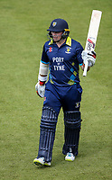 Durham's Tom Latham acknowledges the applause at the end of his innings of 86 runs <br /> <br /> Photographer Andrew Kearns/CameraSport<br /> <br /> Royal London One Day Cup - Northamptonshire v Durham - Sunday 27th May 2018 - The County Ground, Northampton<br /> <br /> World Copyright &copy; 2018 CameraSport. All rights reserved. 43 Linden Ave. Countesthorpe. Leicester. England. LE8 5PG - Tel: +44 (0) 116 277 4147 - admin@camerasport.com - www.camerasport.com