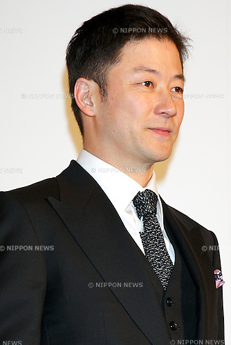 "Tadanobu Asano, October 23 2014, Tokyo, Japan : Actor of the movie ""RUINED HEART: Another Lovestory Between A Criminal & A Whole"" Tadanobu Asano poses for the cameras at the 27th Tokyo International Film Festival, Opening Event Red Carpet at Roppongi Hills Arena in Tokyo, Japan, October 23, 2014. This year the Prime Minister Shinzo Abe attends the opening ceremony. The Film Festival will run through until Friday 31. (Photo by Rodrigo Reyes Marin/AFLO)"