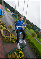 BNPS.co.uk (01202 558833)<br /> Pic: PhilYeomans/BNPS<br /> <br /> Dedicated...Adam was unfazed by the stomach churning rides.<br /> <br /> Adam Willsher(11) from Newbury has landed himself a job every child will envy - a theme park ride tester.<br /> <br /> Adam has been recruited by Paultons Park near Romsey in Hampshire to give a childs eye view of the attractions exciting rides. <br /> <br /> After his stomach churning day out Adam's unbiased reports will now be published on the Park's new website as a guide to visitors.<br /> <br /> Adam, who beat off thousands of other applicants for the dream job, said 'I love theme parks, this really is a dream come true. When I grow up I want to be a ride designer and play on them all day long'