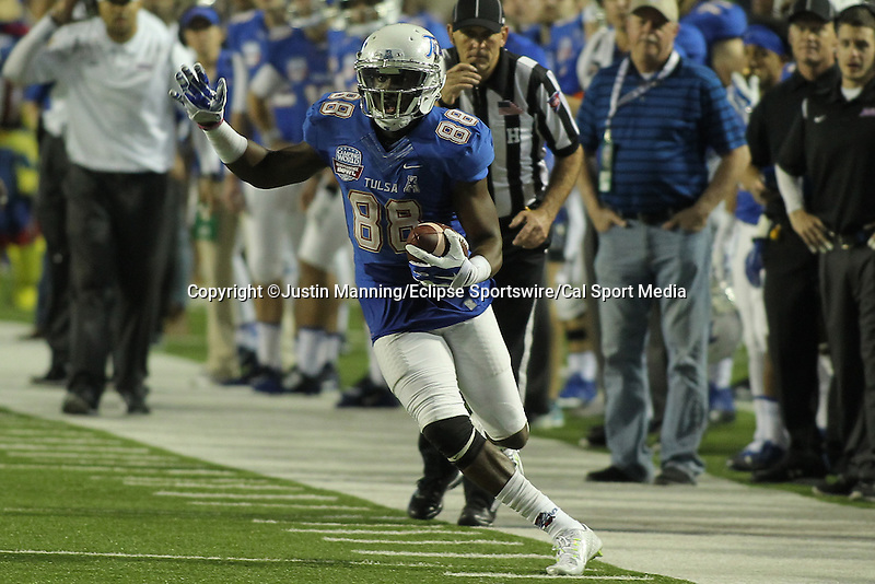 December 26, 2015: Tulsa WR Josh Atkinson during the 2nd half of the Camping World Independence Bowl at Independence Stadium in Shreveport, LA. Justin Manning/ESW/CSM