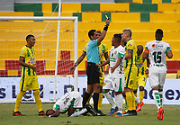 BUCARAMANGA - COLOMBIA, 17-02-2018: Atlético Bucaramanga y Leones en partido por la fecha 4 de la Liga Águila I 2018 jugado en el estadio Alfonso López de la ciudad de Bucaramanga. / Atletico Bucaramanga and Leones in match for the date 4 of the Aguila League I 2018 played at Alfonso Lopez stadium in Bucaramanga city. Photo: VizzorImage / Oscar Martínez / Cont