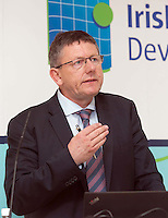 ***NO FEE PIC ***<br /> 23/04/2015<br />  Liam Lacey, Director of the Irish Maritime Development Office <br /> during the  launch by the Irish Maritime Development Office (IMDO) of its Irish Maritime Transport Economist report at the Morrison Hotel , Dublin.<br /> Photo:  Gareth Chaney Collins