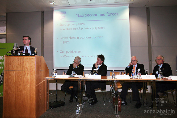 IFSC Phase 2.Institude of Bankers.March 5th 2008 .Dr Alan Ahearne (NUI Galway), John Travers (Global finance Academy), Brian Ruane (Bank of New York), Barry O? Leary (IDA Ireland), Sean Fitzpatrick (Anglo Irish Bank)