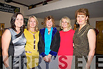 FUNDRAISER; A fundraising dance was held in The Banna Beach Hotel, Banna, on Saturday night to raise funds for the St Brendan's Community Centre, Ardfert, on Saturday night and dancing the night away. L-r: Caroline Stack, Barbara O'Grady, Linda Baker, Ann Marie O'Flaherty and Angelia Ryan..........
