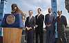 .Boyd Tinsley ,Mayor Bloomberg, Jon Miller,Richard Parsons and Joel Klein.at the announcement of Dave Matthews Band concert on September 12, 2003 in Central Park. The concert will be in .Central Park on September 24, 2003. Photo By Robin Platzer, Twin Images