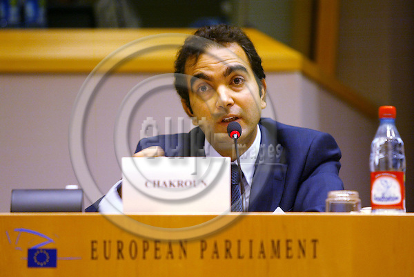 BRUSSELS - BELGIUM - 13 JULY 2005 -- Public Hearing Tenth Anniversary of the Euro-Mediterranean Partnership--Borhene CHAKROUN, Country Manager at ETF  European Training Foundation.  PHOTO: ERIK LUNTANG / EUP-IMAGES..