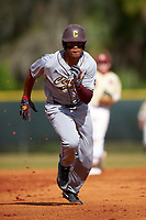 Central Michigan Chippewas right fielder Daniel Robinson (19) during a game against the Boston College Eagles on March 8, 2016 at North Charlotte Regional Park in Port Charlotte, Florida.  Boston College defeated Central Michigan 9-3.  (Mike Janes/Four Seam Images)