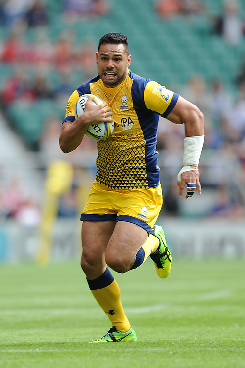 Ben Te'o of Worcester Warriors in action during the Aviva Premiership Rugby match between Saracens and Worcester Warriors at Twickenham Stadium on Saturday 03 September 2016 (Photo by Rob Munro/Stewart Communications)